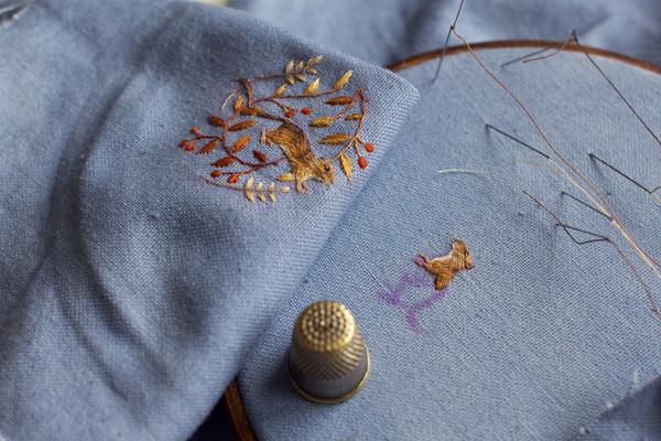 Embroidered squirrel Chloe Giordano