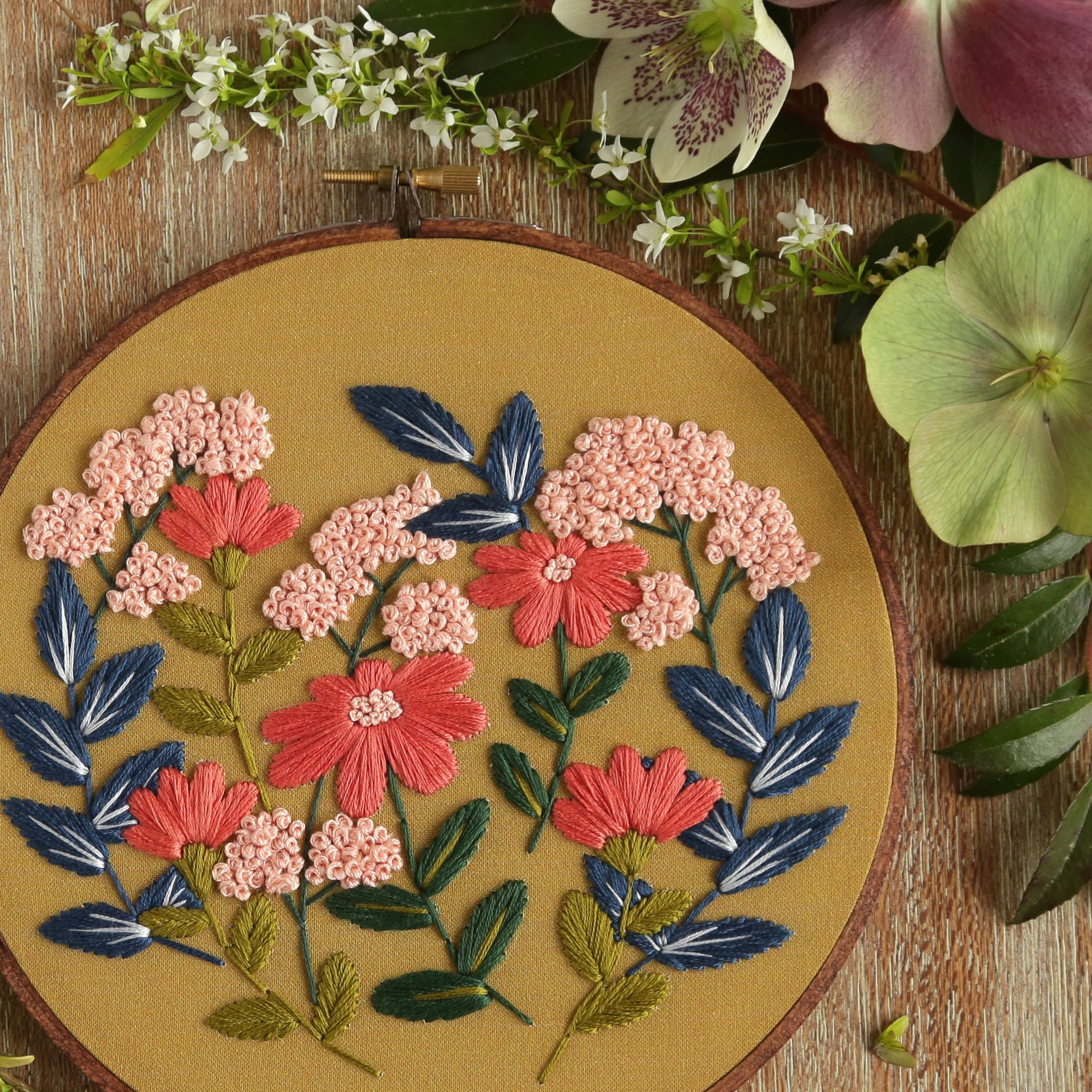 Floral embroidery - Hoffelt & Hooper Co.