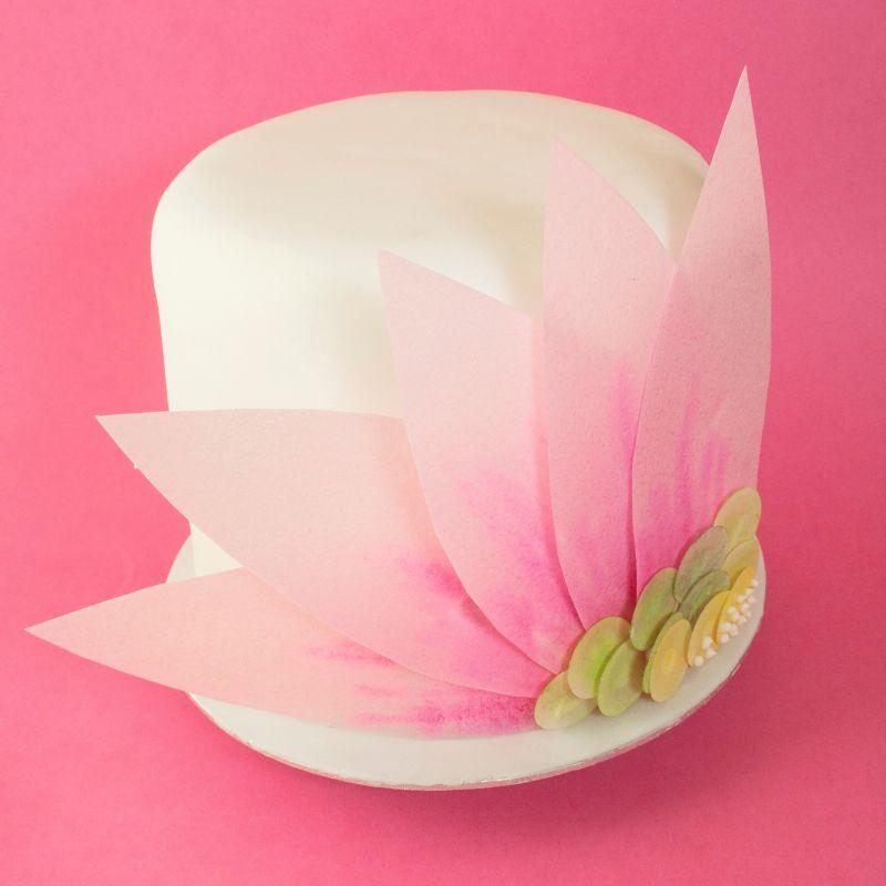 Mother's Day gerbera flower cake