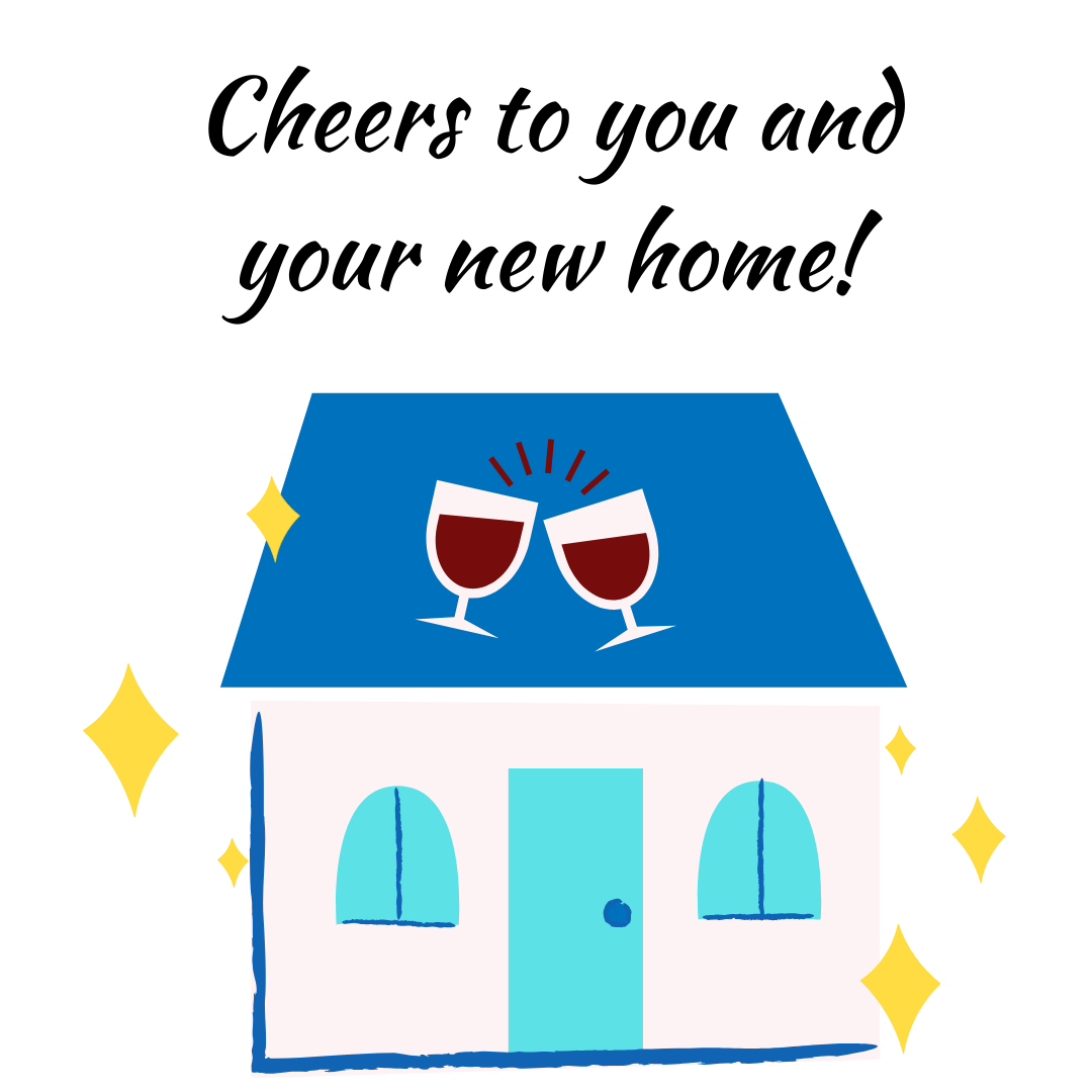 short and sweet new home card