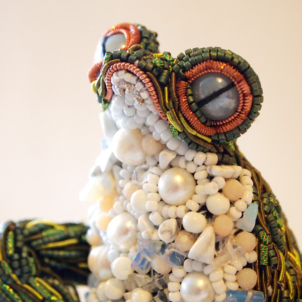 'Frog' stumpwork by Georgina Bellamy