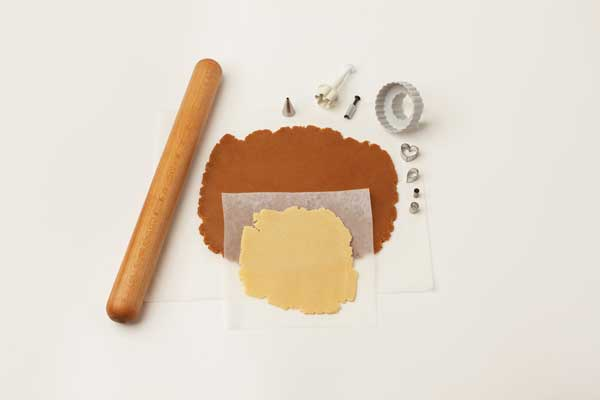 Gingerbread and shortbread dough