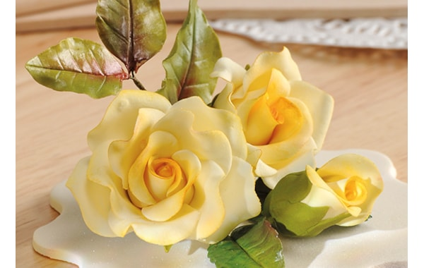Gumpaste roses quick and easy cake toppers