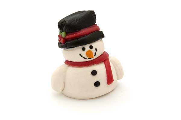 Marzipan Snowman