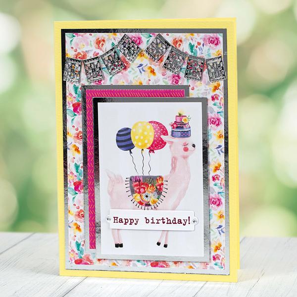 Happy Birthday llama birthday card