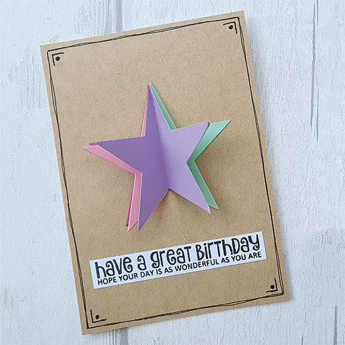 Star pop-up card