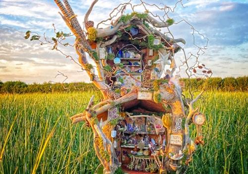 Healing Lodge fairy house by Gemma Harris