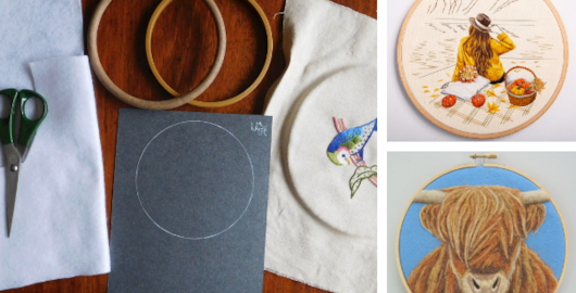 finishing your embroidery hoop for display