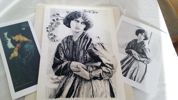 Jane Morris blackwork