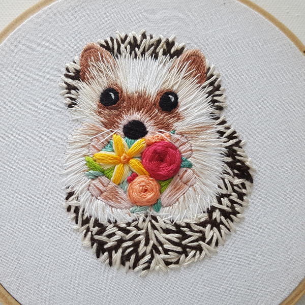 Jessica-Long-hand-embroidered-hedgehog