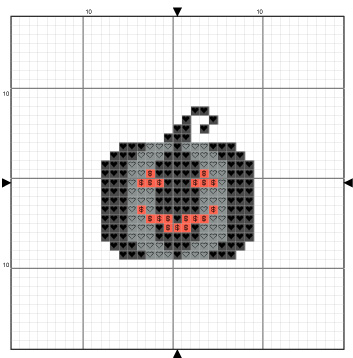 Kate Spiridonova cross stitch pattern Black Pumpkin