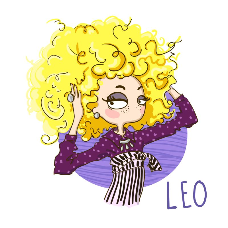 Leo star sign digi stamps
