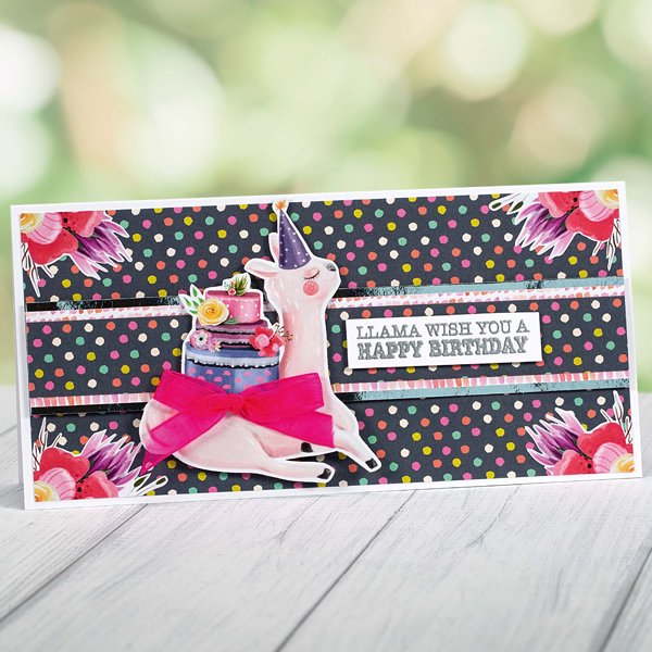 Llama Wishing You A Happy Birthday card