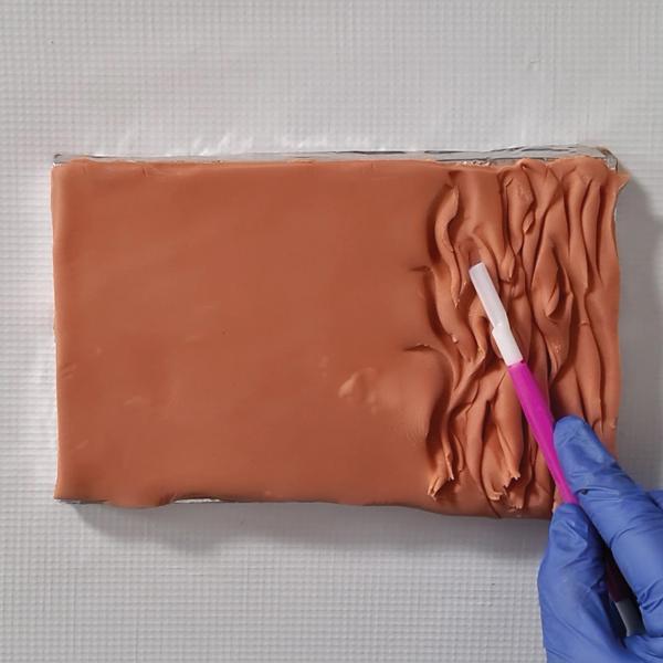 long fur cake texture using scallop tool