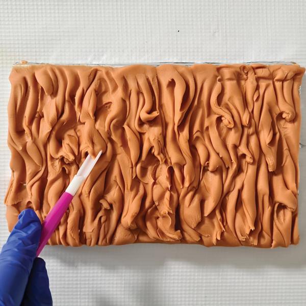 long fur cake texture