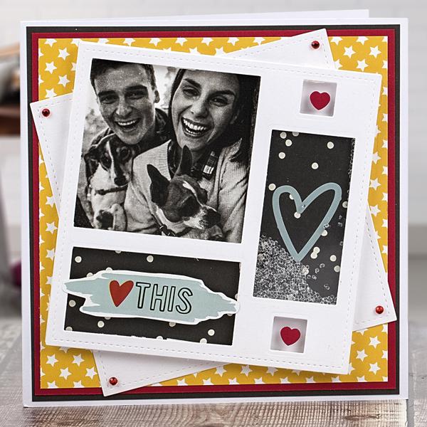 'Love this' DIY Valentine's Day card