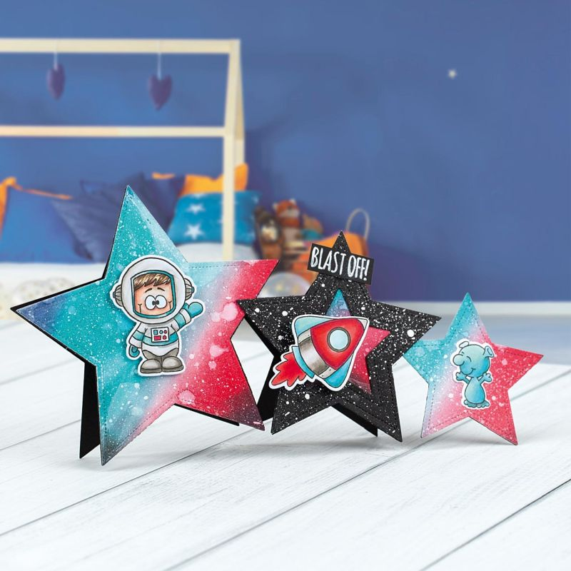 back to school blast off card