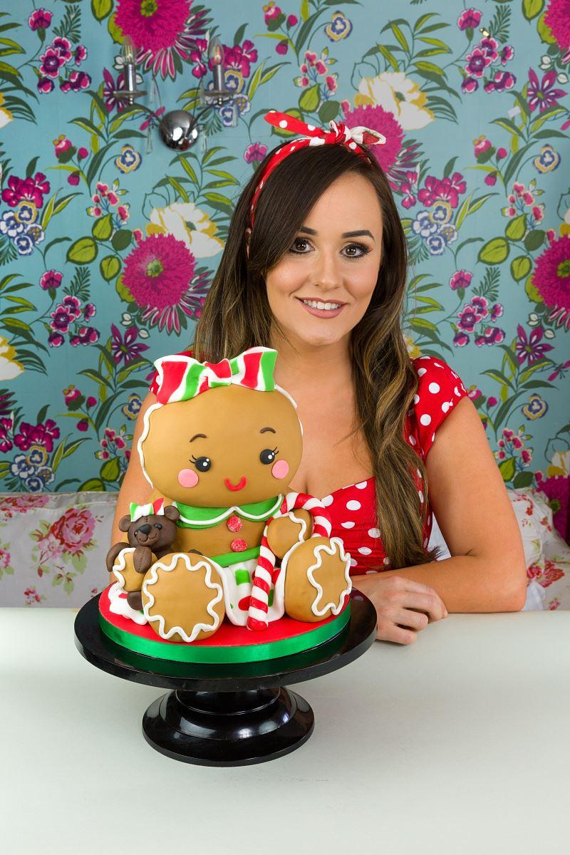 Molly Robbins headshot and cake