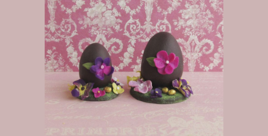 Miniature Easter eggs in polymer clay