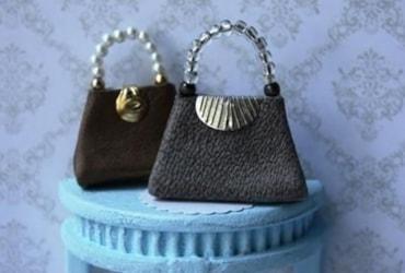 Miniature leather handbag tutorial