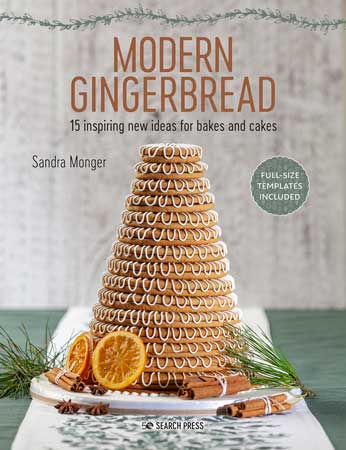 Modern gingerbread book cover