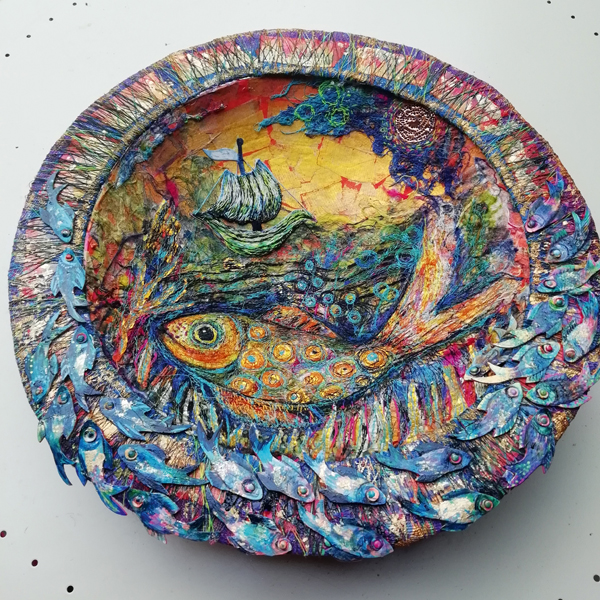 Nikki Parmenter mixed media fish