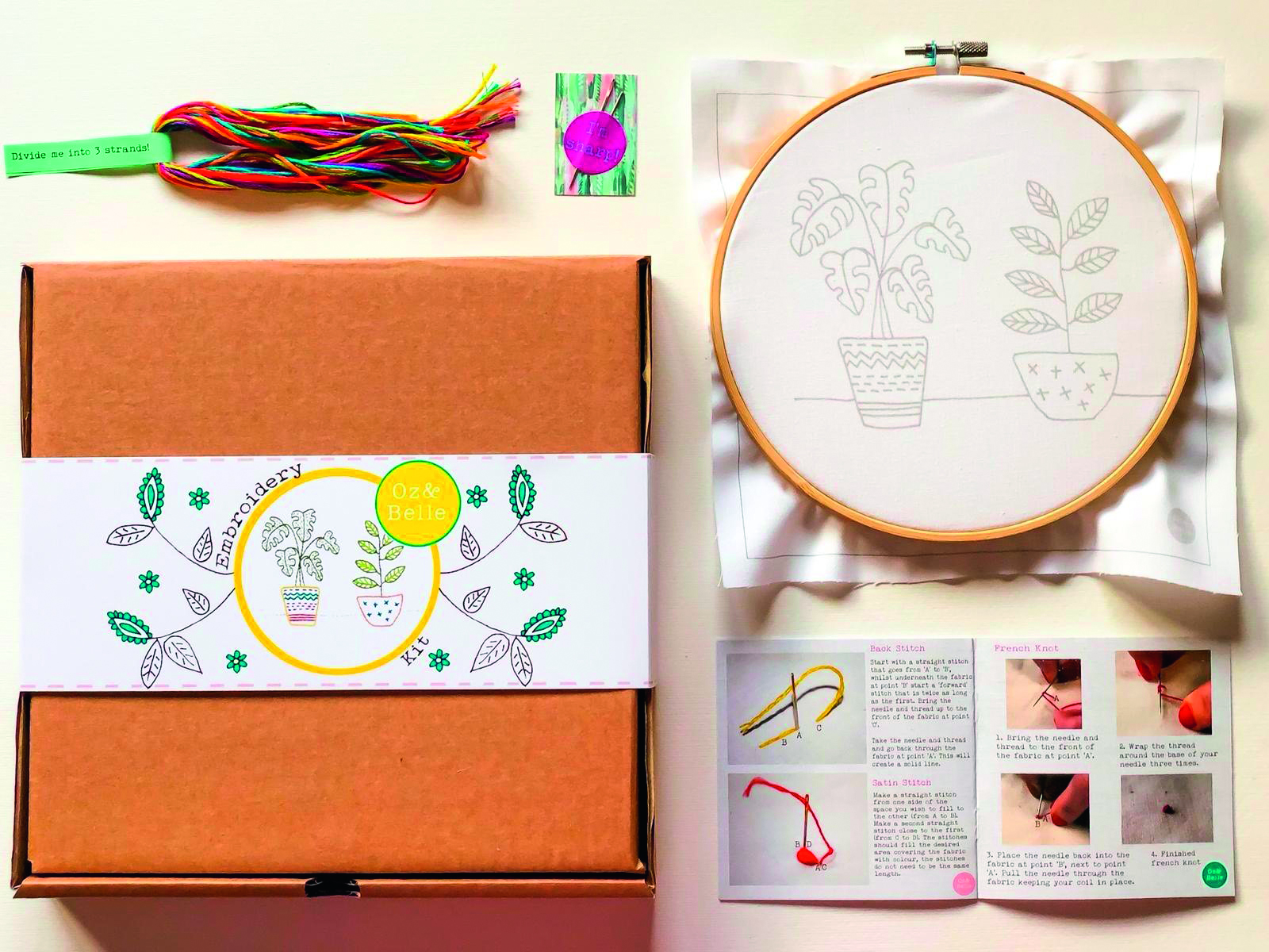 Oz and Belle stitching kit
