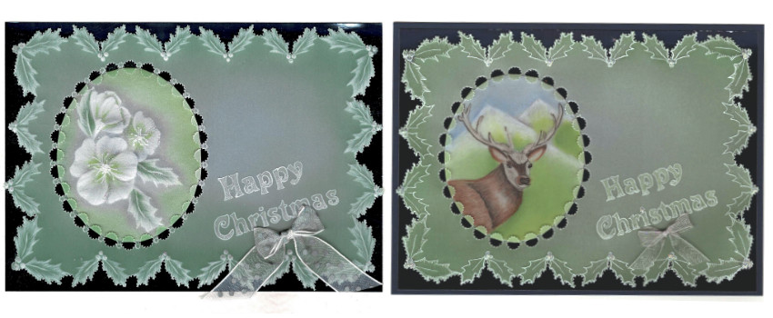 Parchment Christmas cards by Alison Yeates