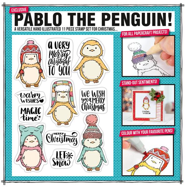 Pablo the penguin stamp set