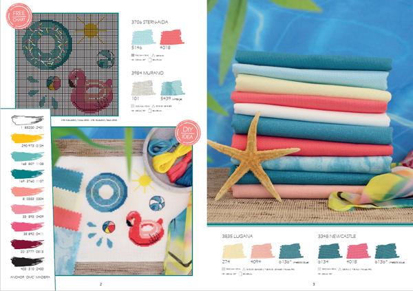 Pool Time Zweigart cross stitch chart image
