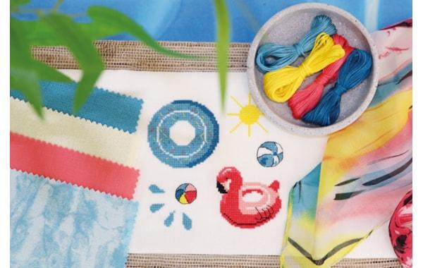 Pool Time Zweigart cross stitch design