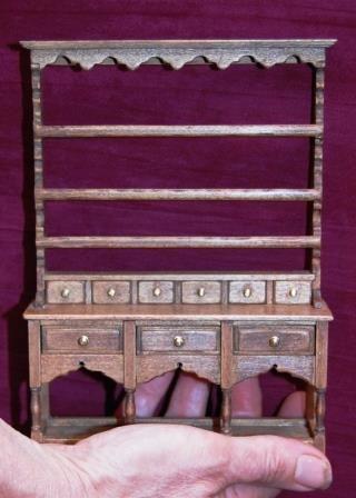 Powys dresser by Pear Tree Miniatures