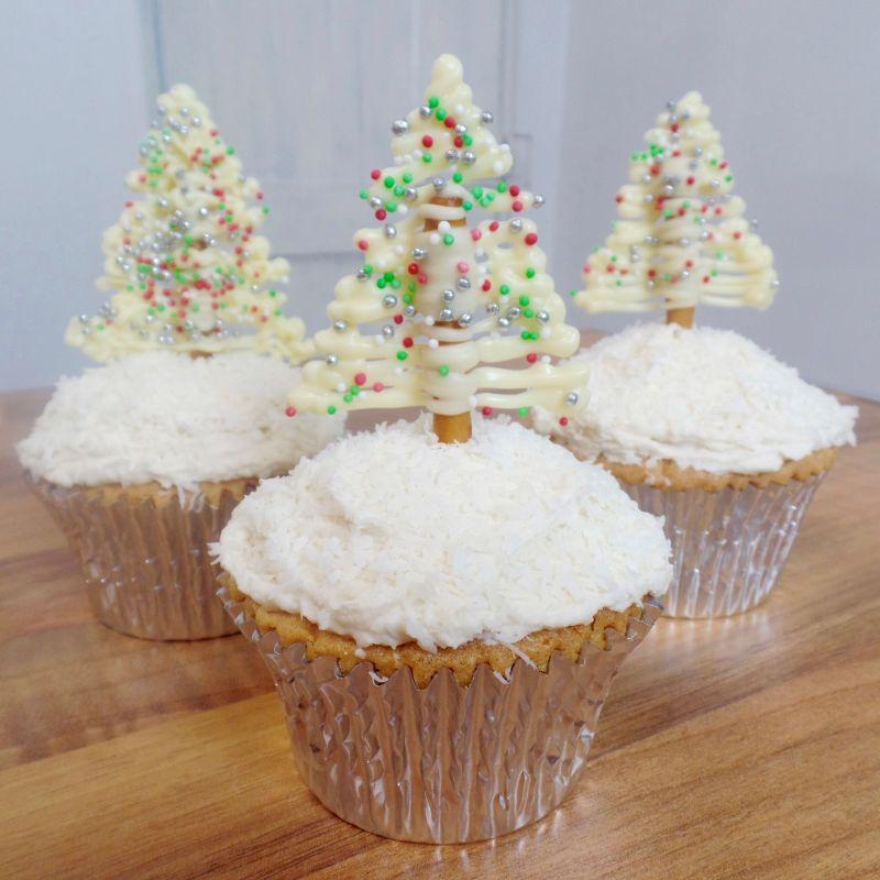 Pretzel cupcakes