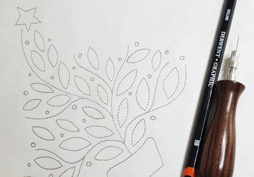 Prick and pounce design transfer method – tree design