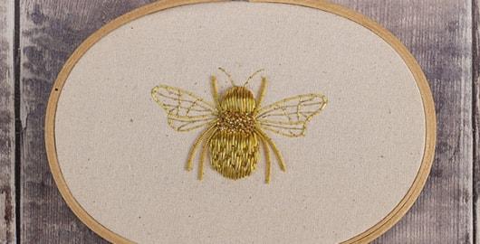 Queen-Bee-goldwork-design