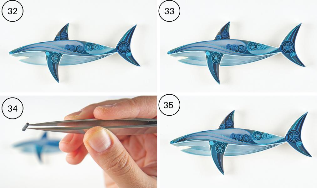 quilled shark steps 32-35