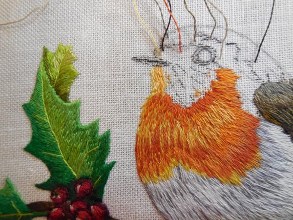 Robin Red Breast work in progress