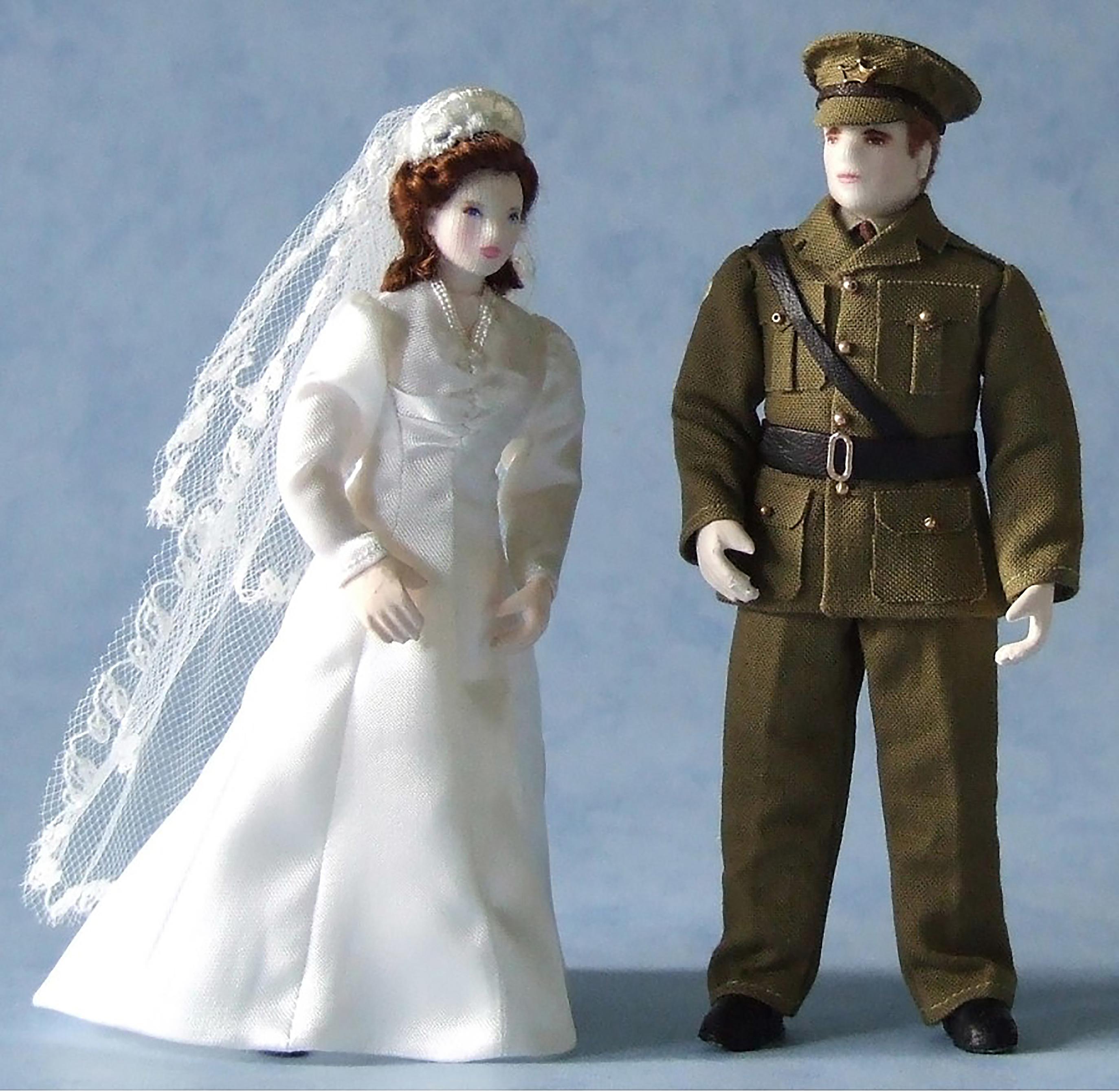 VE Day wartime wedding