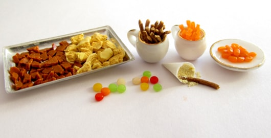 Miniature wartime sweets