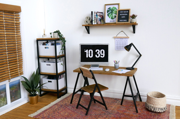 SJ Holmes miniature contemporary office