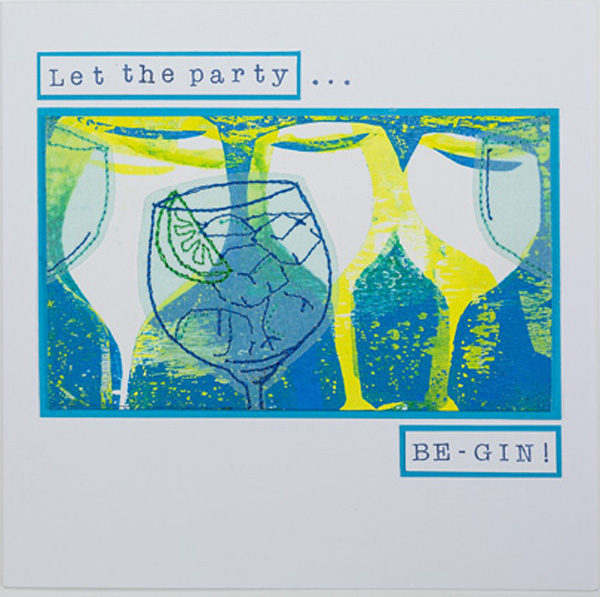 'Let the party be-gin' card