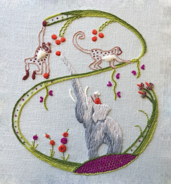 Sara Dennis - embroidered animals