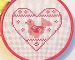 Scandi bird cross stitch chart Nicola Hulks