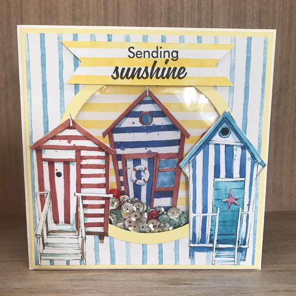 Sending sunshine beach huts card