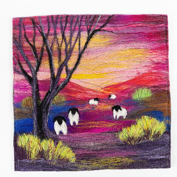 Silvia Sapsford - 'Shepherd's Delight' needle felting embroidery technique