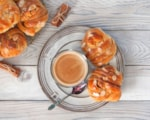 Swedish cinnamon buns and coffee