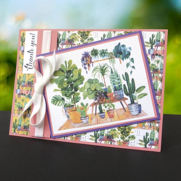 Thank you houseplants homemade card
