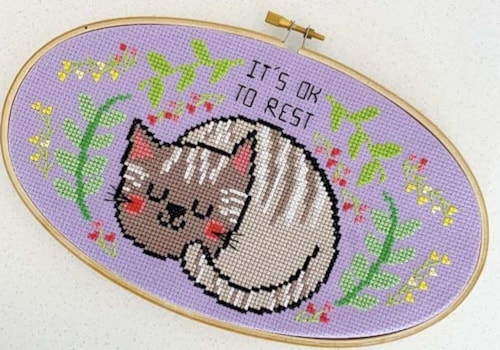 The Geeky Stitching Co cat design