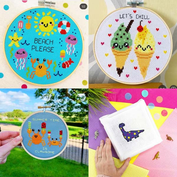 The Geeky Stitching Co colourful designs