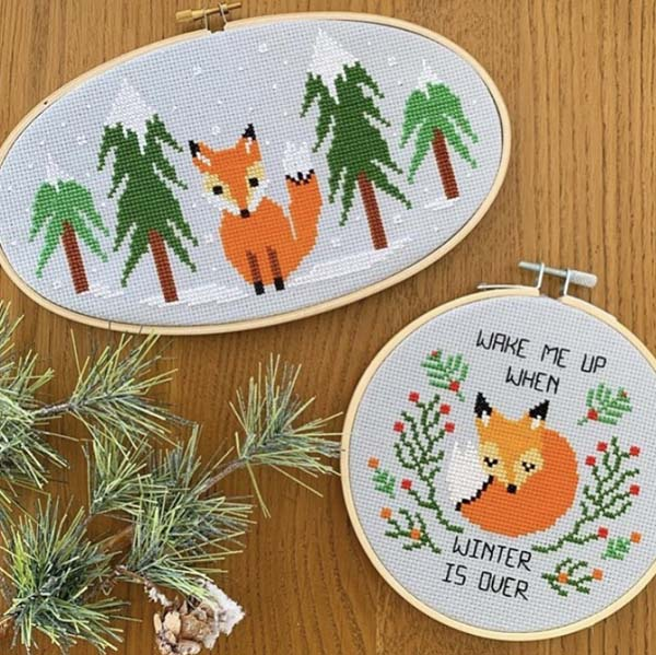 The Geeky Stitching Co fox design